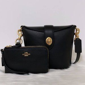 New Coach Addie Crossbody and Double Wristlet Set